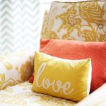 Gold, Coral & Cream Living Room Home Decor Ideas