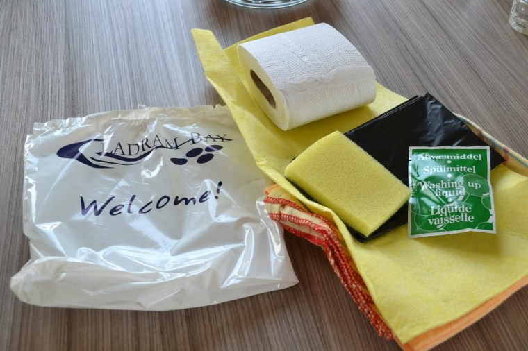Welcome pack at Ladram Bay Holiday Park