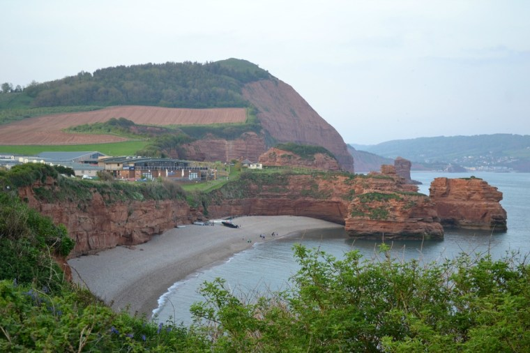 Ladram Bay is a secluded bay on the East Devon coast