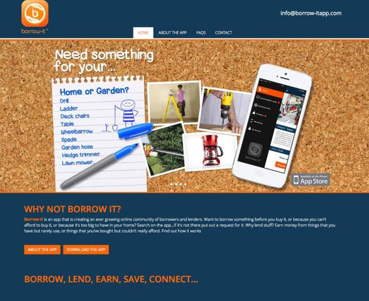 The new Borrow-it app - BORROW, LEND, EARN, SAVE, CONNECT