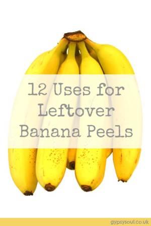 12 Ways to use leftover banana peels - Reduce food waste