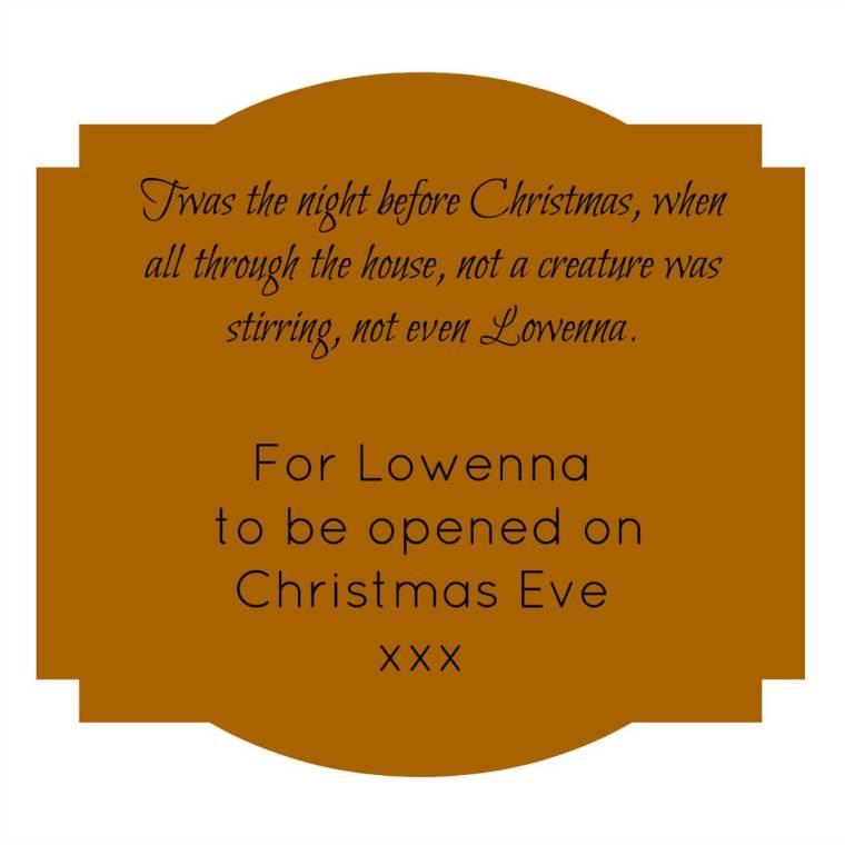 Christmas Eve Box Tag