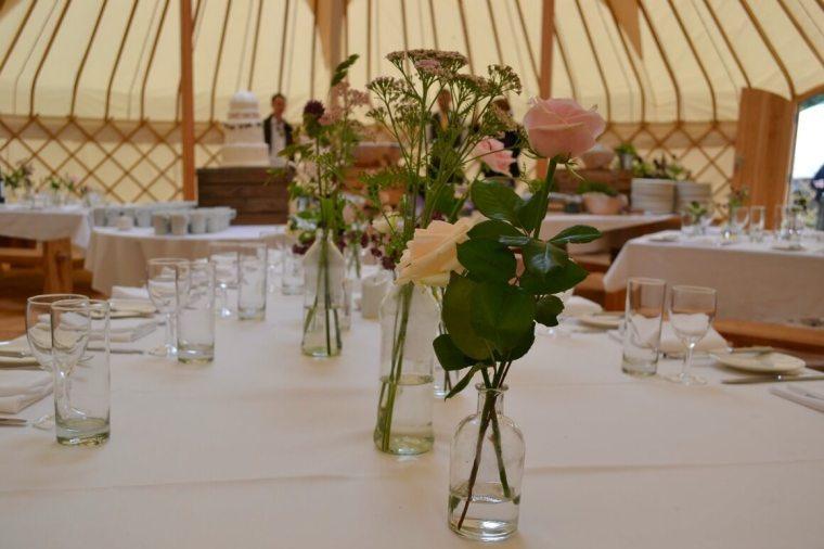 yurt wedding flowers