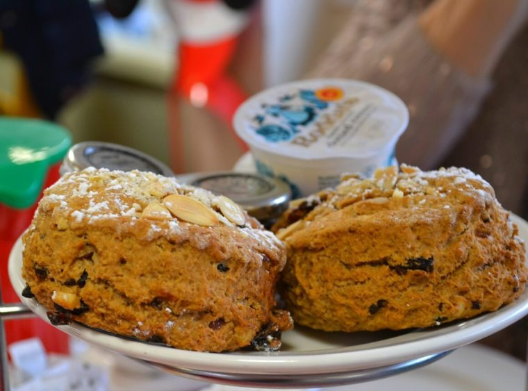 Cinnamon Christmas scones at Jacks Patch in Teignmouth