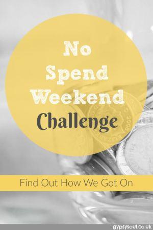 No Spend Weekend Challenge