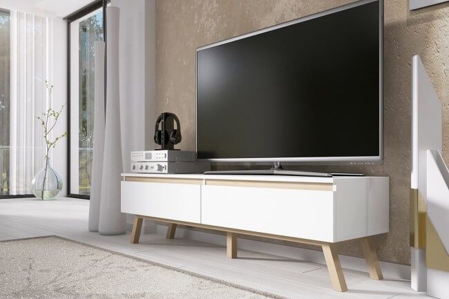 Scandi style tv unit for living room
