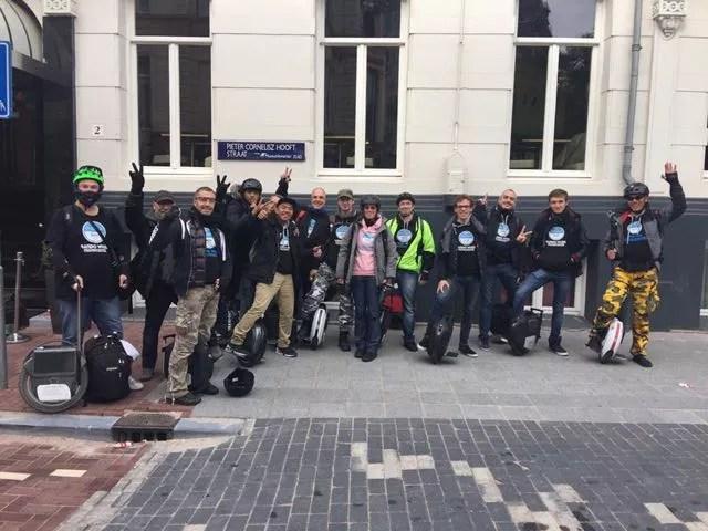 Rando avec les Wheelers IDF – Amsterdam en Gyroroue le 8 Octobre 2016