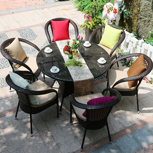 6 seater chair patio furniture set