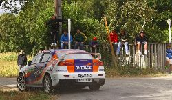 Luis Vilariño y Moncho López en el pasado Rallye San Froilán