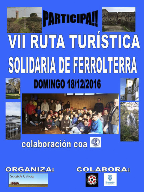 Este domingo se celebrará la VII Ruta Turístico-Solidaria de Ferrolterra Sratch Galicia