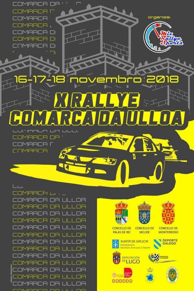 Cartel Rally Comarca da Ulloa 2018
