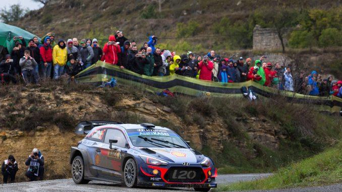 Neuville en el Rally España 20018