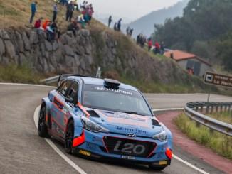Ivan Ares durante el Rally Santander - Cantabria 2018