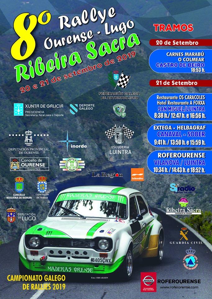 Cartel Rally de Ourense Lugo Ribeira Sacra 2019