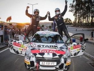 Dani Berdomás en el Rally de Portugal 2019