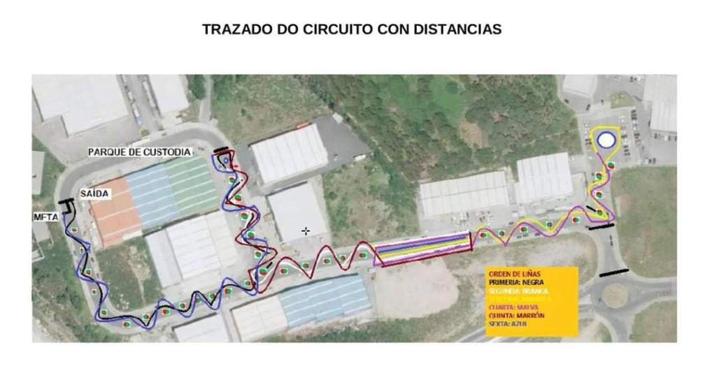 Mapa trazado Slalom Fene 2020
