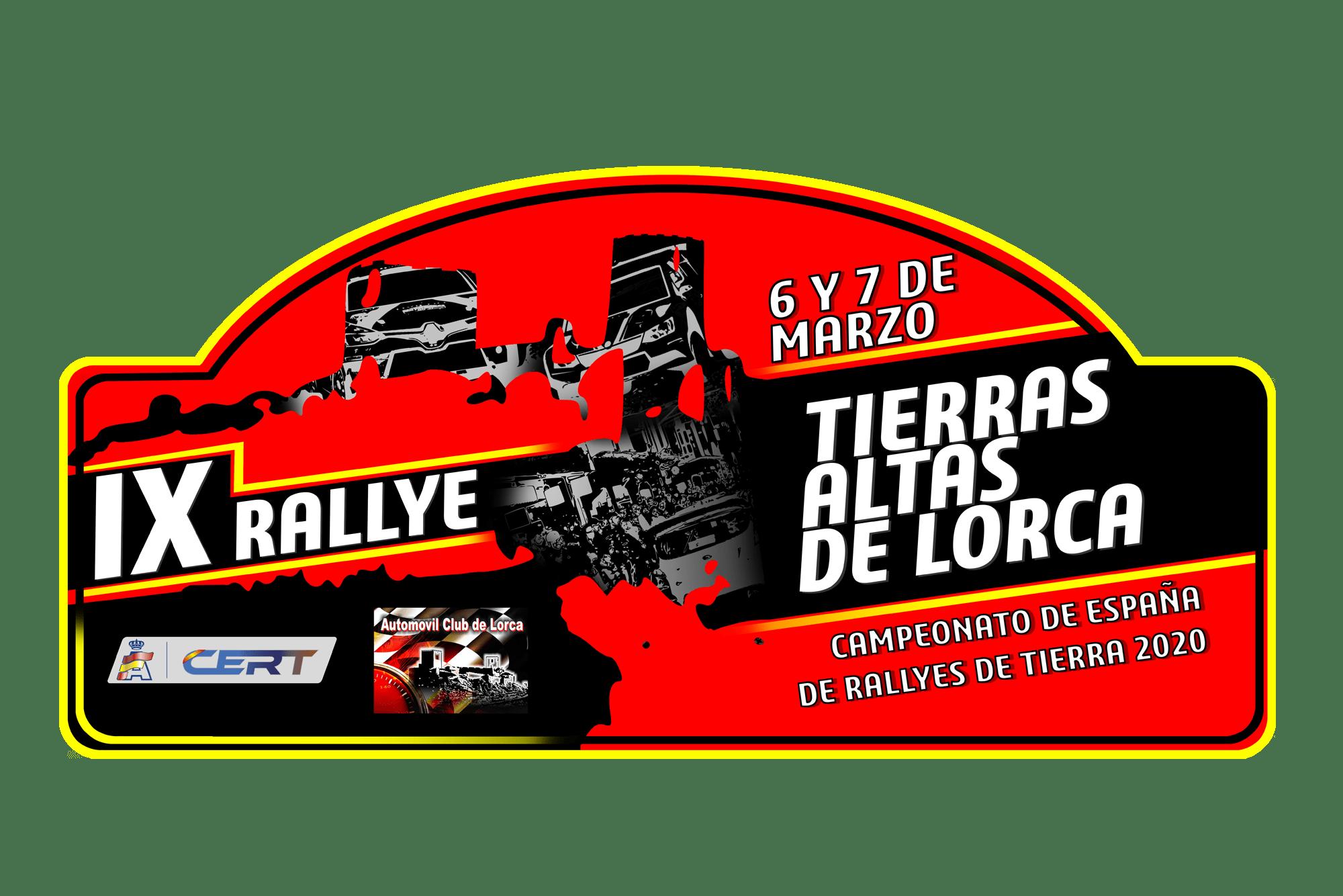 Placa Rally Tierras Altas de Lorca 2020