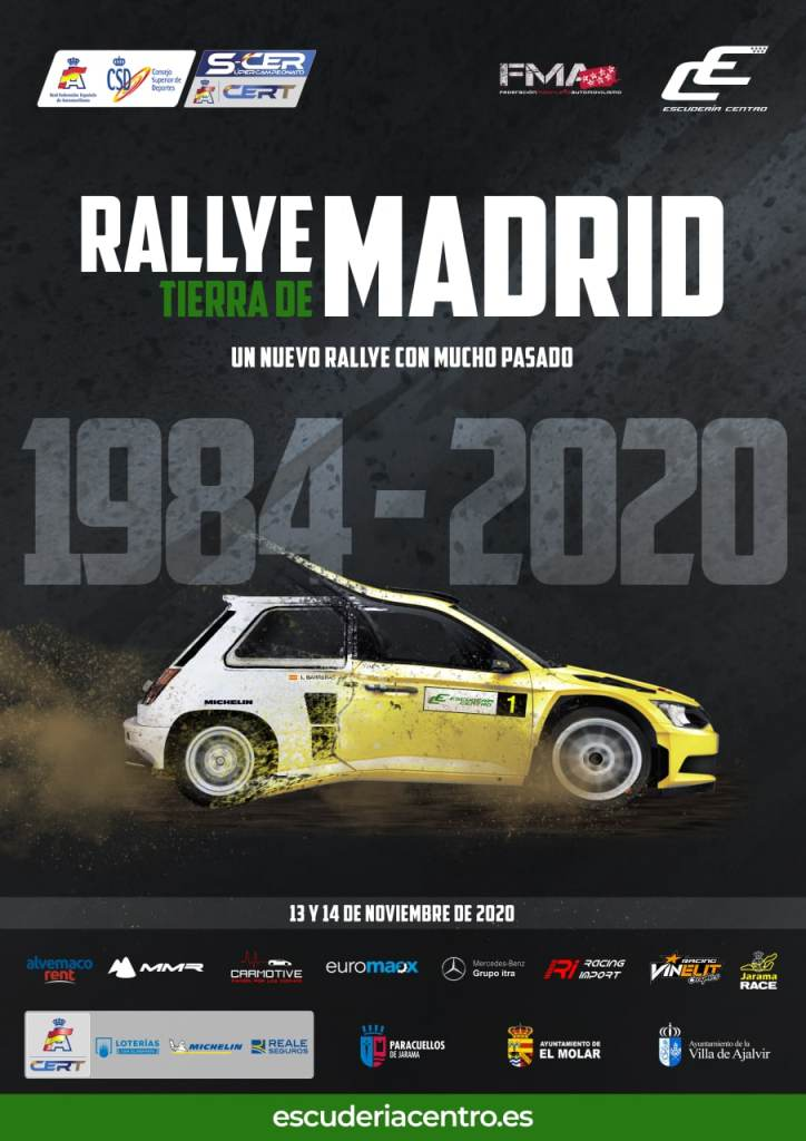 Cartel Rally de Madrid de Tierra 2020