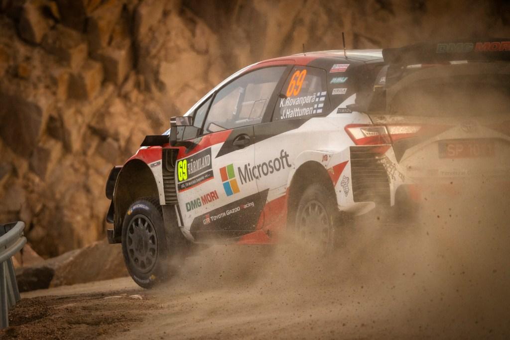 Rovanpera en la primera etapa del Rally de Suecia 2020