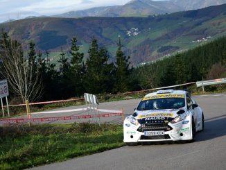 Oscar Palacio en el Rally de A Coruña 2020