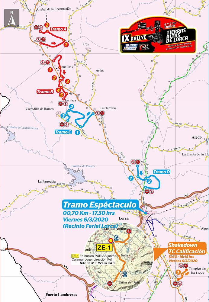 Mapa General Tramos Lorca 2020