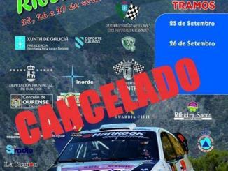 Cartel Rally Ourense Ribeira Sacra