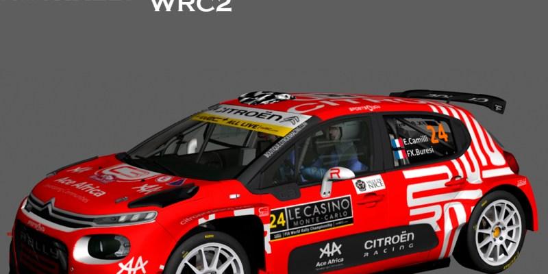 Eric Camilli - François-Xavier Buresi  Citroën C3 Rally2  Rallye MonteCarlo 2021