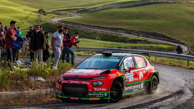 Jan Solans en el Rally Sierra Morena 2021