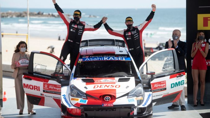 Elfyn Evans en el Rally de Portugal 2021