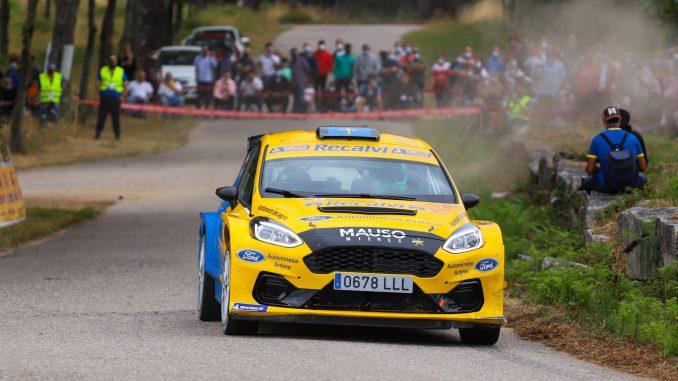 Oscar Palacio en el Rally Rias Baixas 2021
