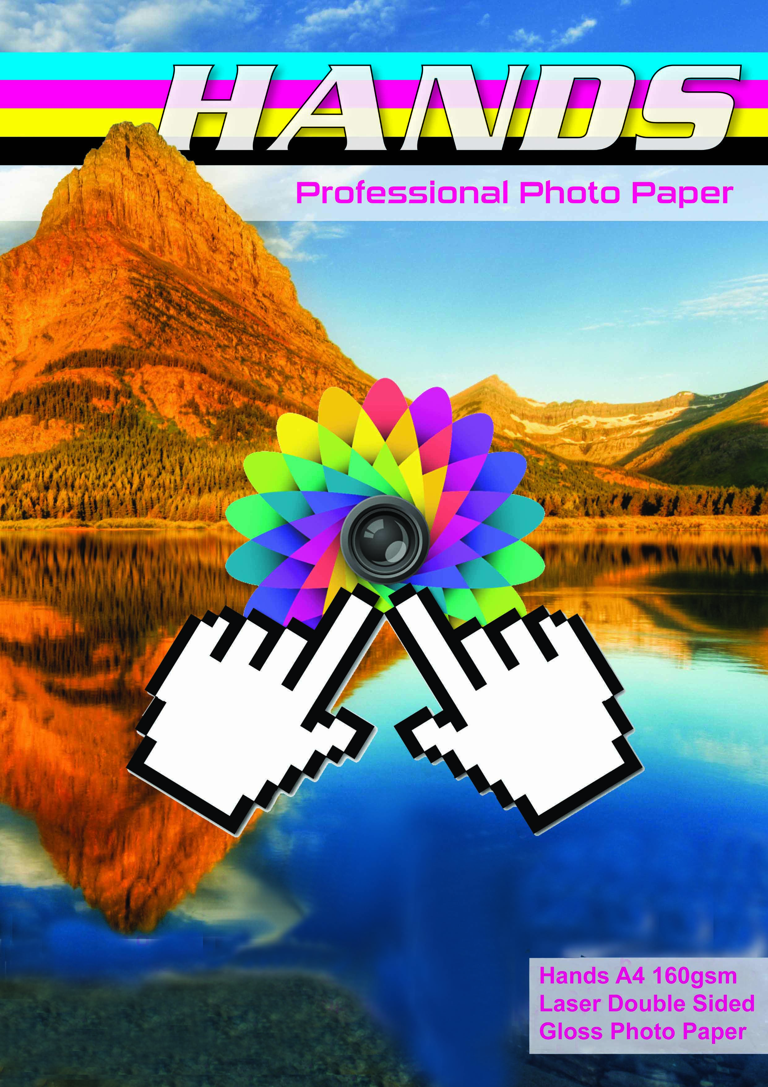 20 Sheets A4 160gsm Hands Double Sided Gloss Photo Paper