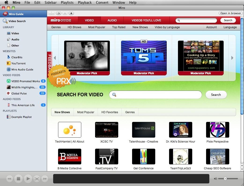Miro 3.5 on Mac OS X