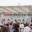 花園のトライくんステージではチビッ子ダンサーやフラダンスなどが披露されました