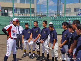 東大阪中学校野球部選抜と06BULLSの親善試合