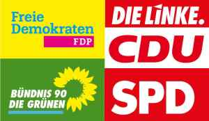 Logos of German political parties