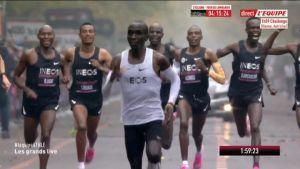 Marathon: victoire historique d'Eliud Kipchoge qui brise la barrière des 2h