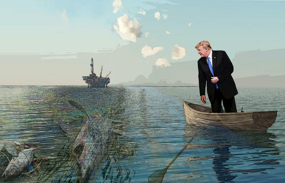 Photo illustration: The cataclysmic cost of Trump's 'war on oceans'
