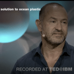 Still frame from video: David Katz TED Talk on ocean plastic