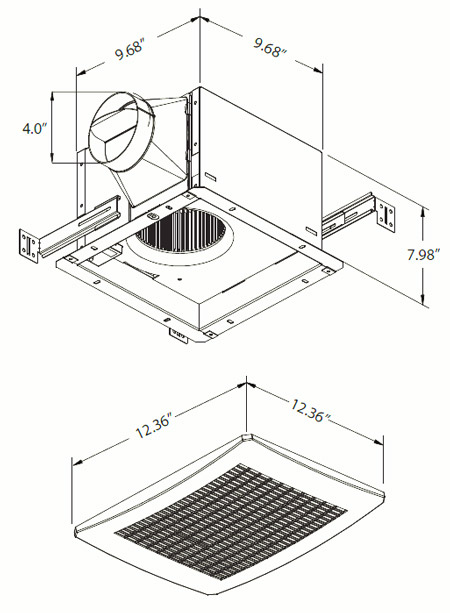 Extractor Baño Funcion:EXTRACTOR PARA BAÑO-ABANICO DE VENTILACIÓN CON SENSOR DE HUMEDAD 110