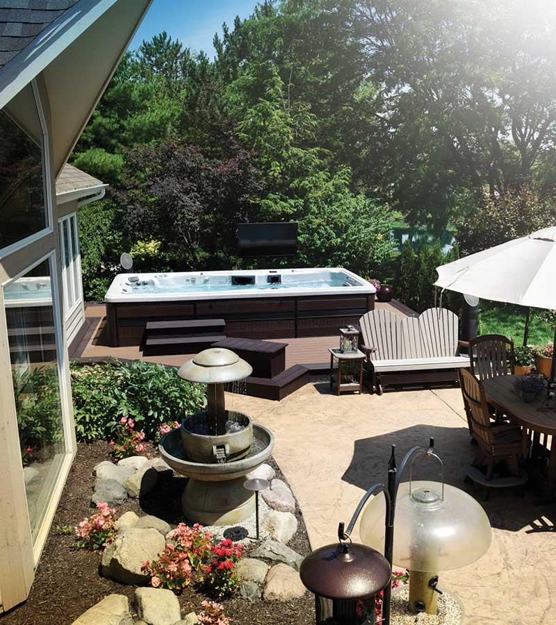 Backyard Ideas | Where should I put a Swim Spa? on Outdoor Living Spa id=49249