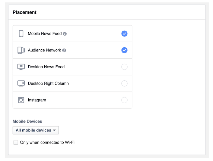 Facebook Audience Network for Social Media Advertising