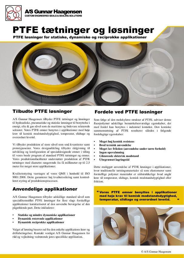 PTFE tætninger og løsning (Dansk)