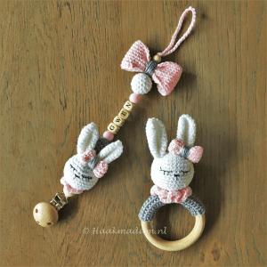 Speenkoord bijtring konijn