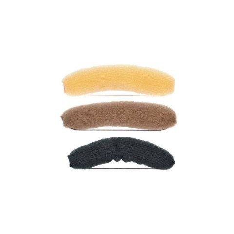 Knotenrolle braun, blond, schwarz- mittel mit Gummiband