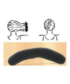 Knotenrolle schwarz - groß mit Gummiband
