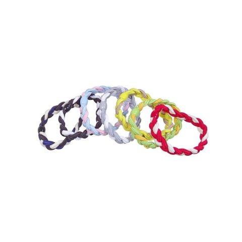 Zopfgummi geflochten in zwei Farben gesamtes Sortiment