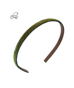 schmaler Haarreifen in Lederoptik mit Struktur oliv
