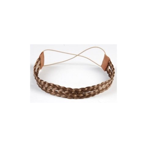 Haarband aus Kunsthaar - doppelreihig hellbraun