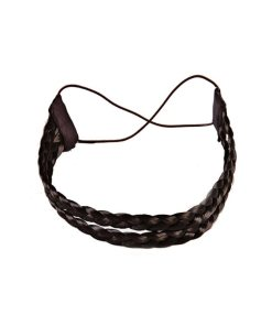 Haarband aus Kunsthaar - doppelreihig dunkelbraun