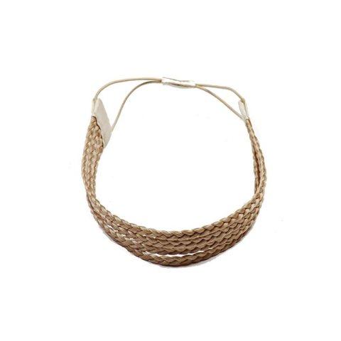 Haarband aus geflochtenem Kunsthaar vierreihig mittelblond